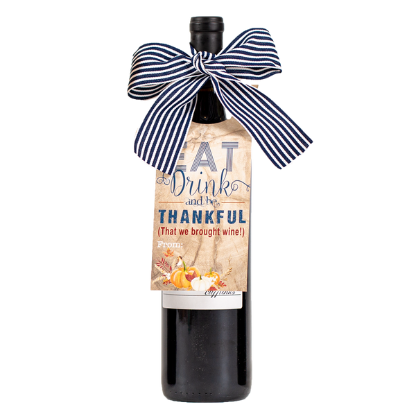 Be Thankful Wine Tag - ModLoungePaperCompany
