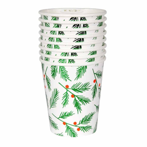 leaves and berries paper cup
