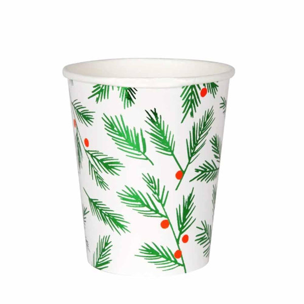 Leaves & Berries Paper Cups - ModLoungePaperCompany