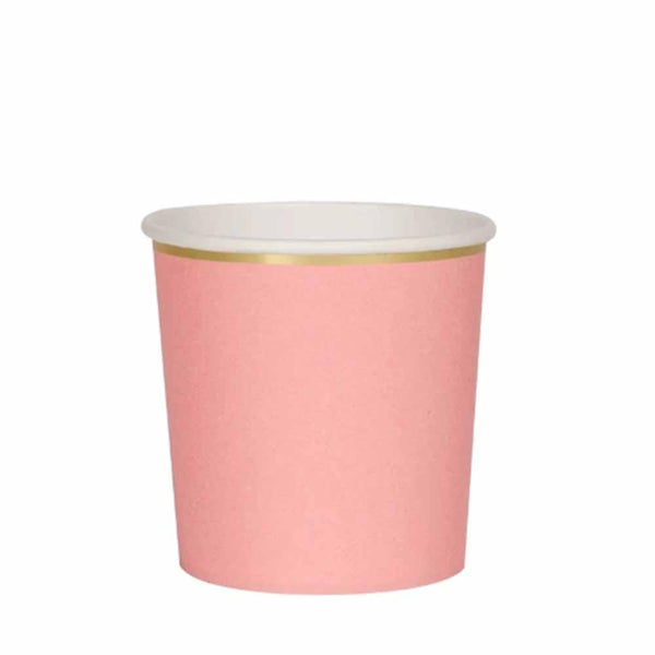 Neon Coral Tumbler Cups - ModLoungePaperCompany