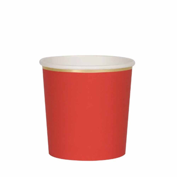 red paper tumbler cup