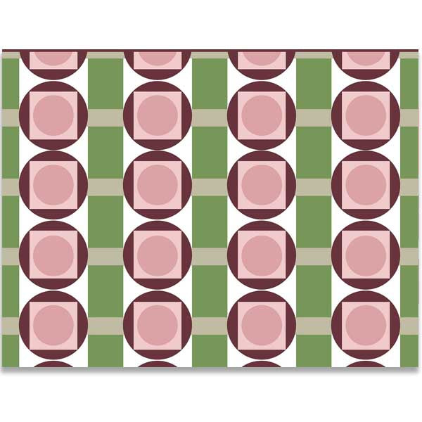 Circle in Squares Notecard - ModLoungePaperCompany