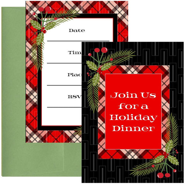 mid century modern holiday invitation