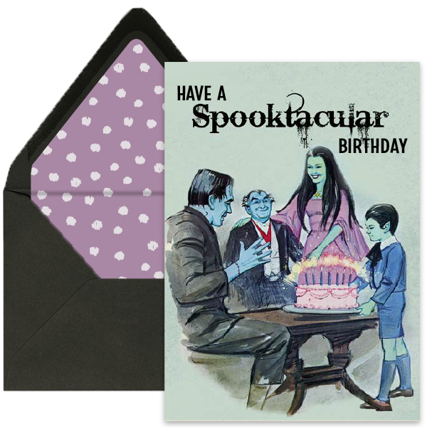 Munsters Halloween Birthday Card - ModLoungePaperCompany