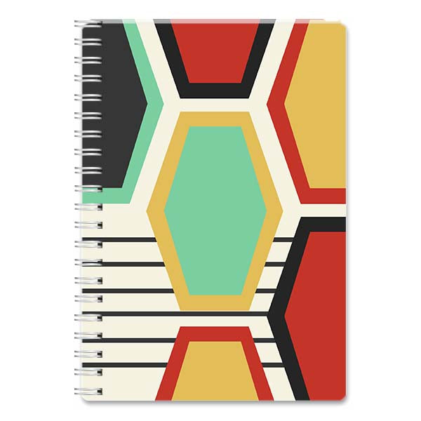 Elongated Large Hexagon Spiral Notebook - ModLoungePaperCompany