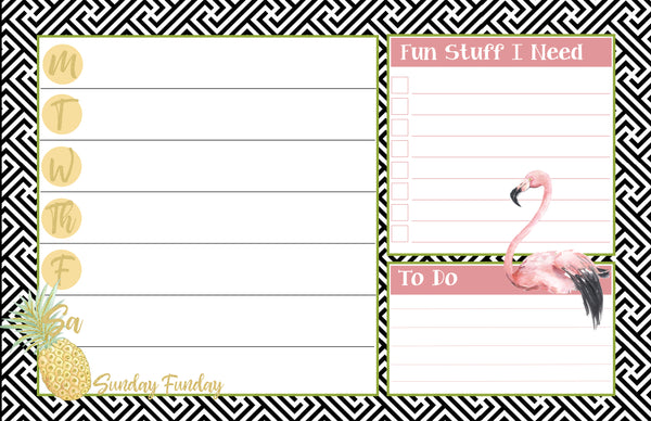 Flamingo & Pineapple Planner - ModLoungePaperCompany