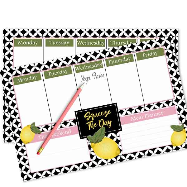 Retro Lemon Weekly Planner - ModLoungePaperCompany