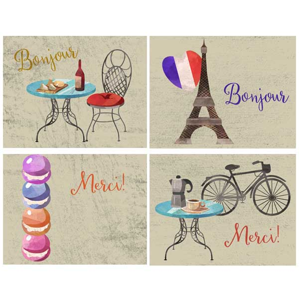 Paris Vacation Assorted Boxed Notecards