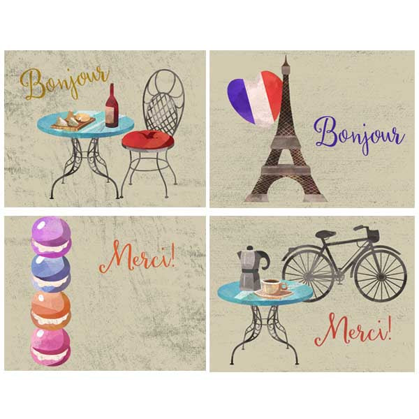 Paris Vacation Assorted Boxed Notecards - ModLoungePaperCompany