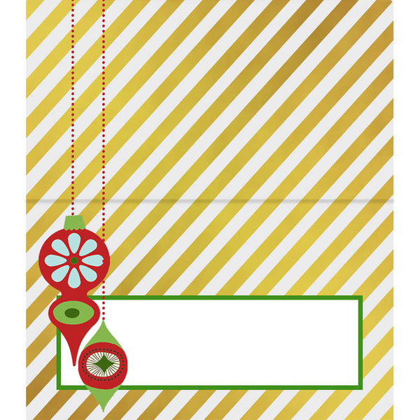 Retro Ornament Placecards - ModLoungePaperCompany