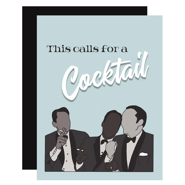 Rat Pack Greeting Card - ModLoungePaperCompany