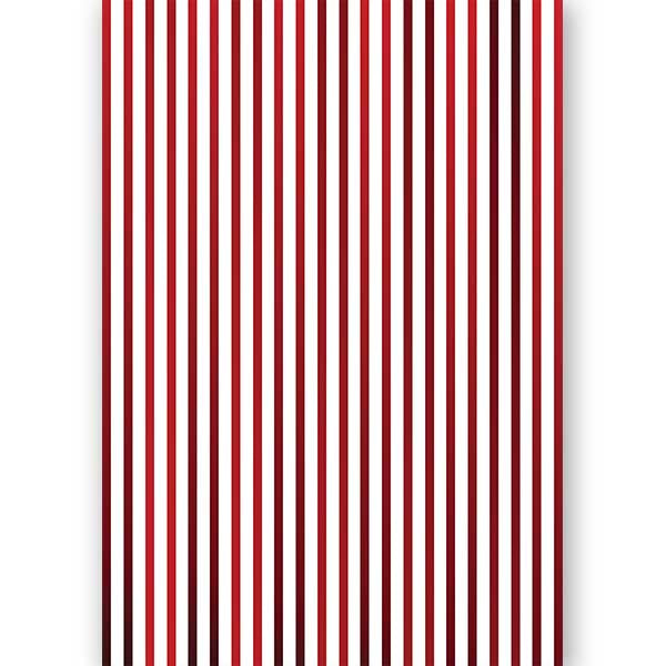 Red Gradient Stripe Gift Wrap - ModLoungePaperCompany