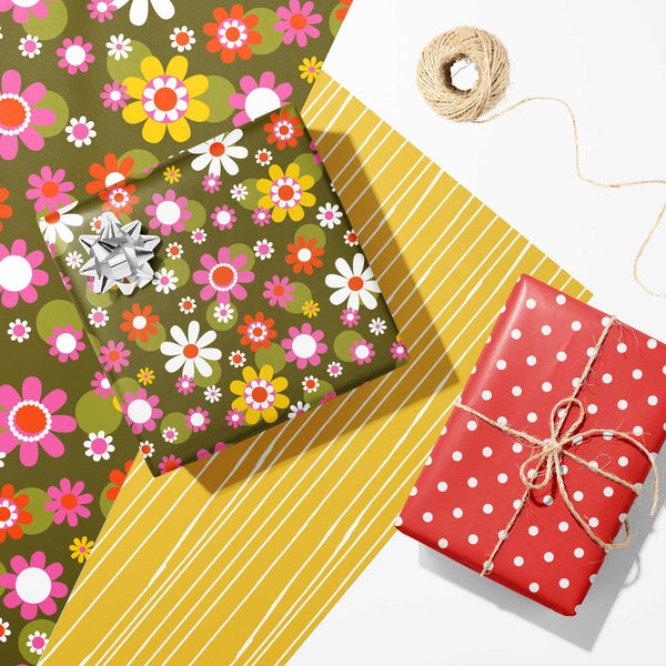 retro and mid century modern gift wrap