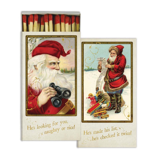 Santa's Watching Boxed Matches - ModLoungePaperCompany