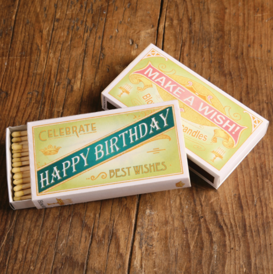 Vintage Happy Birthday Boxed Matches - ModLoungePaperCompany