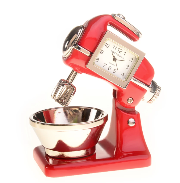 Mixer Clock Red - ModLoungePaperCompany