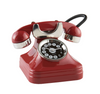 Retro Phone Clock Red - ModLoungePaperCompany