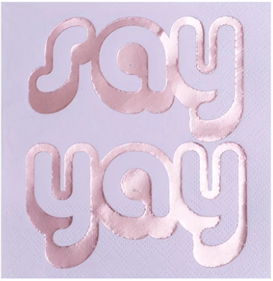 Say Yay Beverage Napkin - ModLoungePaperCompany