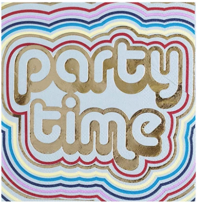 Party Time Beverage Napkin - ModLoungePaperCompany
