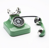Retro Phone Clock Green - ModLoungePaperCompany