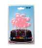 happy birthday pink retro script candle