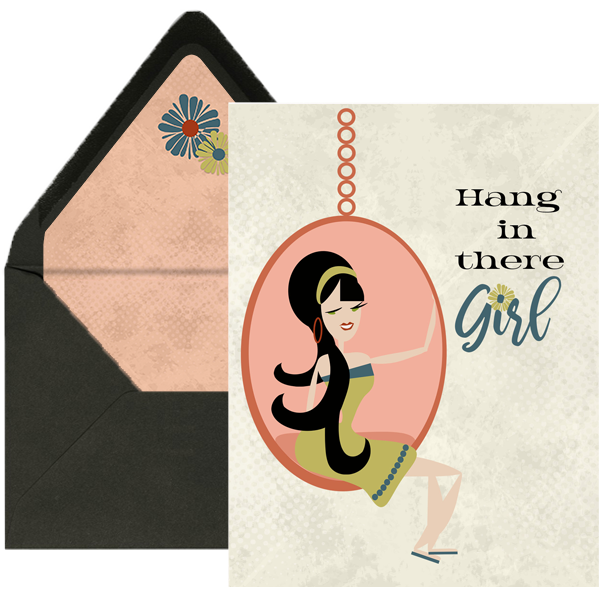 Hang In There Encouragement Greeting Card - ModLoungePaperCompany