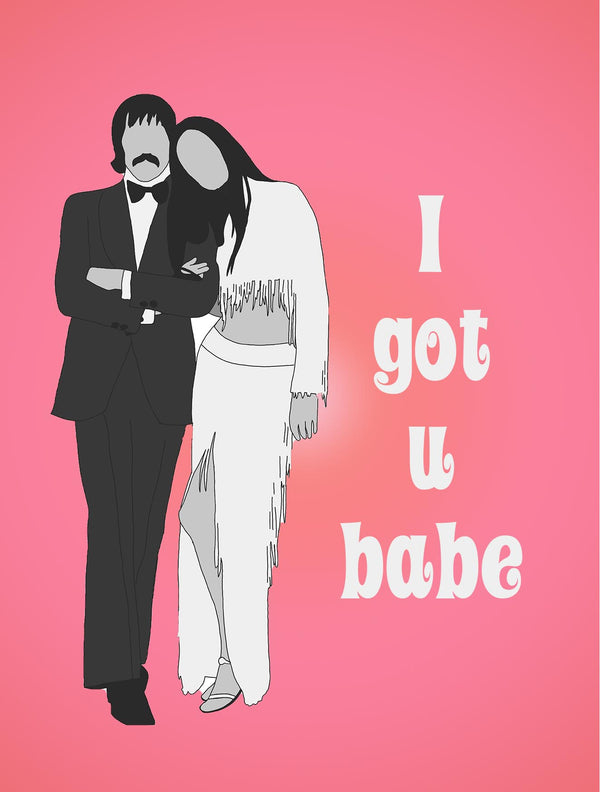 Sonny & Cher I got You Babe Greeting Card - ModLoungePaperCompany
