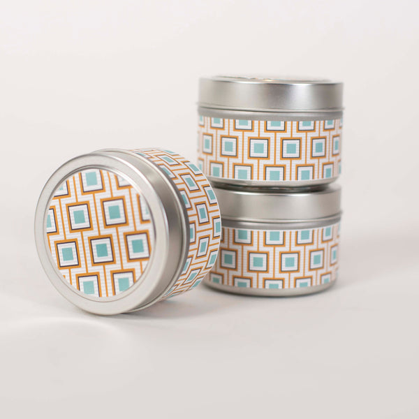 Square Design Travel Candle - ModLoungePaperCompany