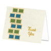 Square Rows Thank You Card - ModLoungePaperCompany