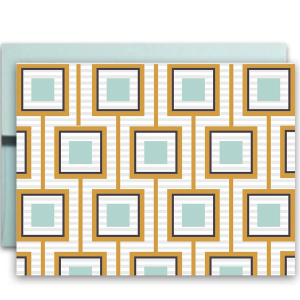 Squares Unaligned Notecard - ModLoungePaperCompany