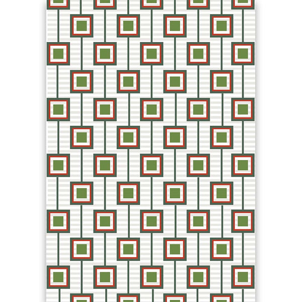 Squares Unaligned Holiday Gift Wrap - ModLoungePaperCompany