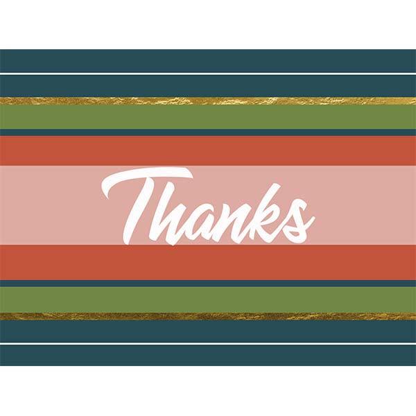 Classic Stripe Folded Thank You Card - ModLoungePaperCompany