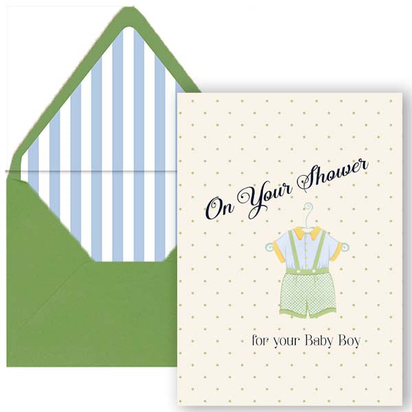 Vintage Baby Boy Shower Card - ModLoungePaperCompany