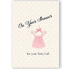 Vintage Baby Girl Shower Card - ModLoungePaperCompany