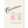Vintage Baby Boy and Girl Shower Card - ModLoungePaperCompany