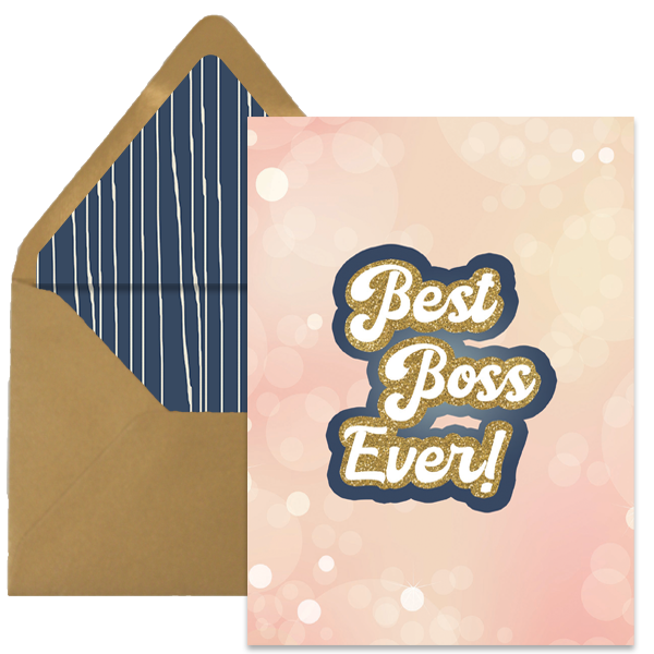 Best Boss Ever Greeting Card - ModLoungePaperCompany