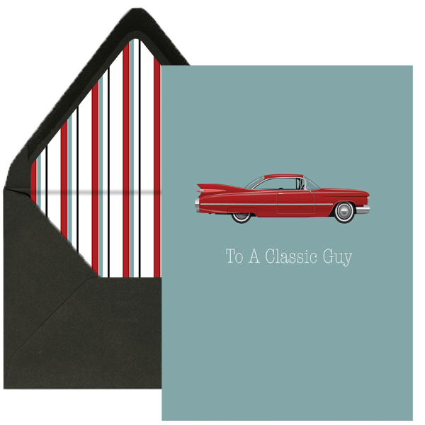 Classic Car Greeting Card - ModLoungePaperCompany