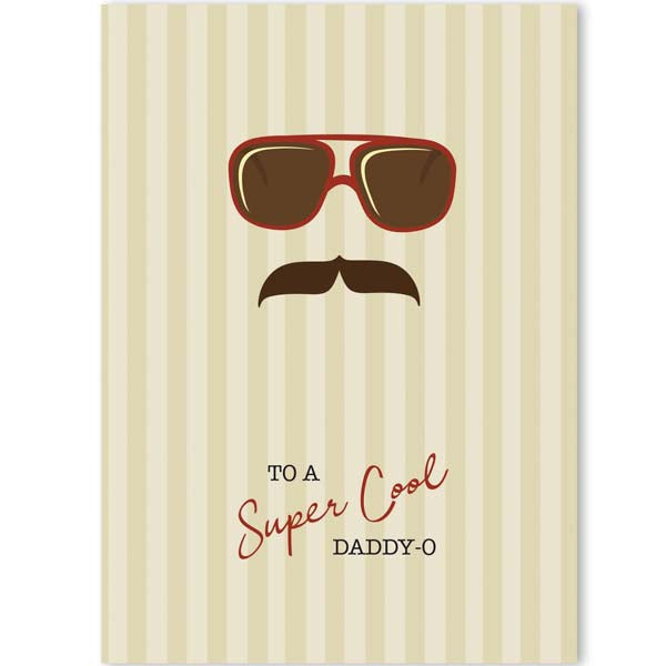 Cool Dad Greeting Card A7 - ModLoungePaperCompany
