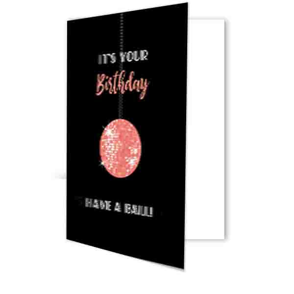 Disco Ball Birthday Card - ModLoungePaperCompany