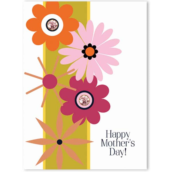 Flower Power Mothers Day Card - ModLoungePaperCompany
