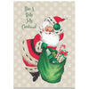 Holly Jolly Santa Greeting Card - ModLoungePaperCompany