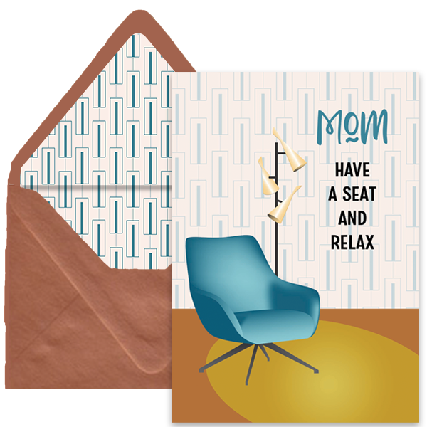 Mod Furniture Mothers Day Card - ModLoungePaperCompany