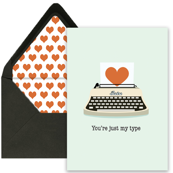 Just My Type Greeting Card - ModLoungePaperCompany