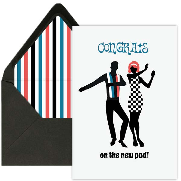 Mod Dancers Congrats Greeting Card - ModLoungePaperCompany