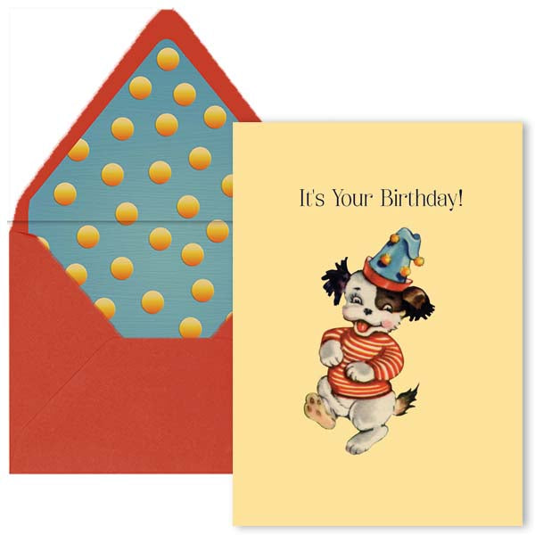Vintage Dancing Dog Birthday Card - ModLoungePaperCompany