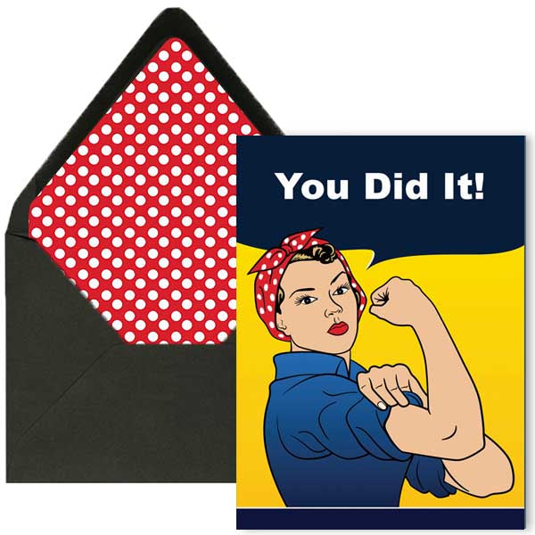 Rosie The Riveter Card - ModLoungePaperCompany
