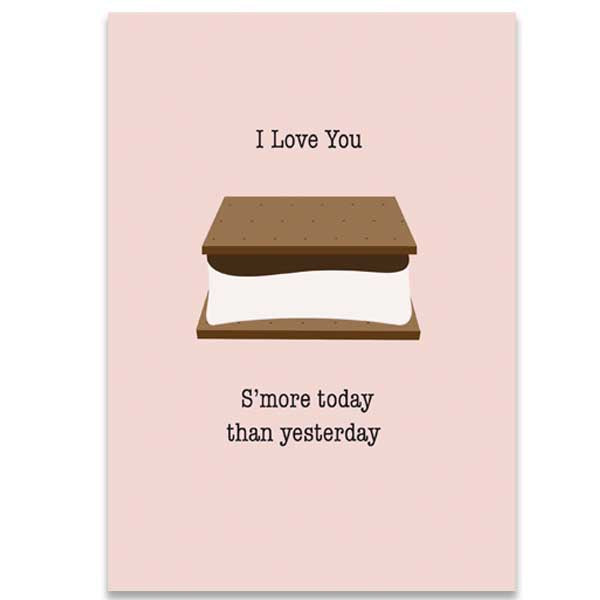 I Love You S'more Greeting Card - ModLoungePaperCompany