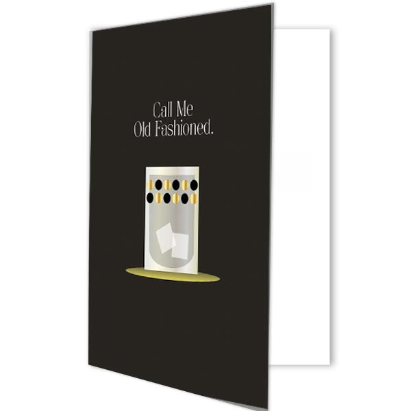 Call Me Old Fashioned Cocktail Greeting Card - ModLoungePaperCompany