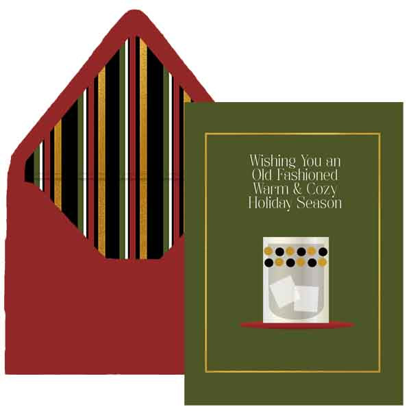 Old Fashioned Holiday Greeting Card - ModLoungePaperCompany