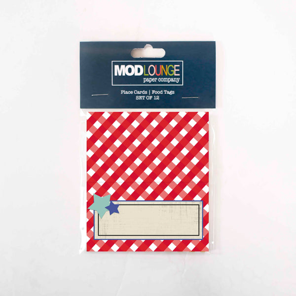 Backyard Barbecue Place cards - ModLoungePaperCompany